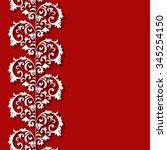 vector seamless border. paper... | Shutterstock .eps vector #345254150