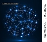 abstract polygonal sphere ... | Shutterstock .eps vector #345258296