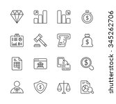 money and finance icons set... | Shutterstock .eps vector #345262706