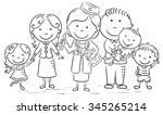 family doctor with her patients ... | Shutterstock .eps vector #345265214