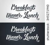 hand lettering collection for... | Shutterstock .eps vector #345271940