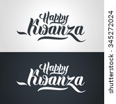 happy kwanza hand lettering... | Shutterstock .eps vector #345272024