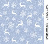 winter seamless pattern with...   Shutterstock .eps vector #345273398