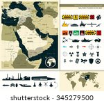 map of middle east and asia... | Shutterstock .eps vector #345279500