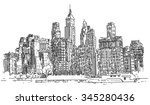 hand drawn city | Shutterstock . vector #345280436