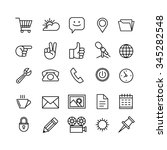 line phone icons set isolated... | Shutterstock .eps vector #345282548