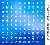 gardening 100 icons set for web ... | Shutterstock .eps vector #345283970