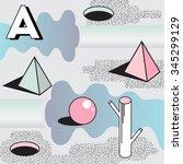 vector geometric background.... | Shutterstock .eps vector #345299129