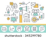marketing concept illustration  ... | Shutterstock .eps vector #345299780