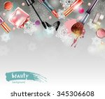 cosmetics and fashion ... | Shutterstock .eps vector #345306608