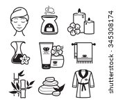 spa and wellness icons set | Shutterstock .eps vector #345308174