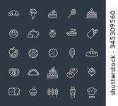 bakery icons | Shutterstock .eps vector #345309560