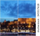 night city landscape.... | Shutterstock .eps vector #345317618
