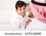 Adorable Little Arabian Boy An...