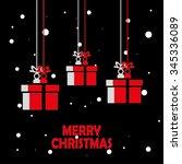 xmas gifts | Shutterstock .eps vector #345336089