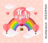 girl card. sign of couple women.... | Shutterstock . vector #345339464