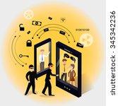 vector illustration of the... | Shutterstock .eps vector #345342236