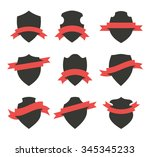 collection of shields or badges ... | Shutterstock .eps vector #345345233