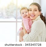 happy cheerful family. mother...   Shutterstock . vector #345345728