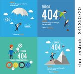 set of error pages. page not... | Shutterstock .eps vector #345350720