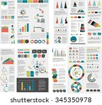 mega set of infographics... | Shutterstock .eps vector #345350978