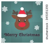cute christmas character.... | Shutterstock .eps vector #345351350