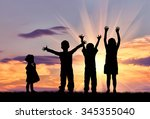 concept of happiness.... | Shutterstock . vector #345355040
