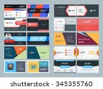 set of modern creative and... | Shutterstock .eps vector #345355760