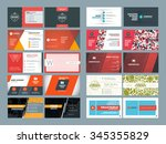 set of modern creative and... | Shutterstock .eps vector #345355829