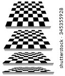 Set Of Chessboard  Checkered...