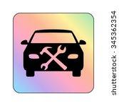 car service   vector icon | Shutterstock .eps vector #345362354