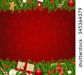 xmas christmas borders with... | Shutterstock .eps vector #345364379