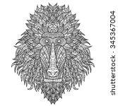 Baboon Head Stylized In...