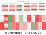 merry christmas and happy new... | Shutterstock .eps vector #345370139