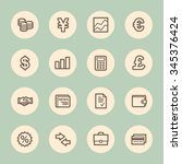 finance web icons set | Shutterstock .eps vector #345376424
