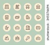 travel web icons set | Shutterstock .eps vector #345376694
