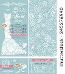 bridal shower invitation set... | Shutterstock .eps vector #345376940