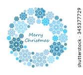 vector snowflake wreath. | Shutterstock .eps vector #345377729