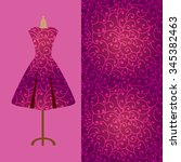 fabric pattern design for a... | Shutterstock .eps vector #345382463