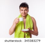 man with cup of coffee | Shutterstock . vector #345383279
