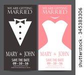 wedding invitation card  bride... | Shutterstock .eps vector #345383306