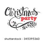 merry christmas lettering... | Shutterstock .eps vector #345395360