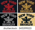 new york  city  vector print... | Shutterstock .eps vector #345399023