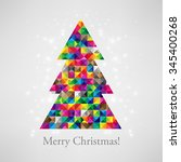 christmas card with gradient... | Shutterstock .eps vector #345400268