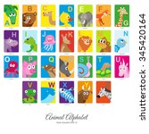 animal english alphabet ... | Shutterstock .eps vector #345420164