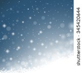 abstract winter background with ... | Shutterstock .eps vector #345420644