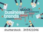 business trends flat design... | Shutterstock .eps vector #345421046
