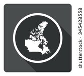 canada map dark sign icon....