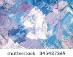 hand drawn oil painting....   Shutterstock . vector #345437369