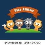 baby animals design  vector... | Shutterstock .eps vector #345439700